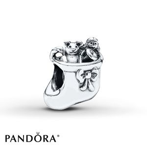 Pandora holiday stocking charm with toys